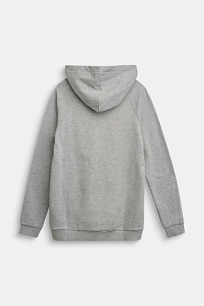 Recycled: Hoodie in 100% cotton, PASTEL GREY, detail image number 1