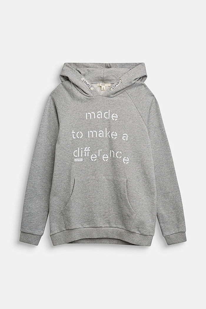 Recycled: Hoodie in 100% cotton, PASTEL GREY, detail image number 0