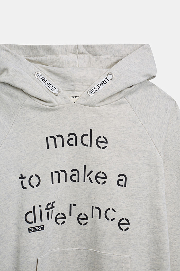 Recycled: Hoodie in 100% cotton, OFF WHITE, detail image number 2