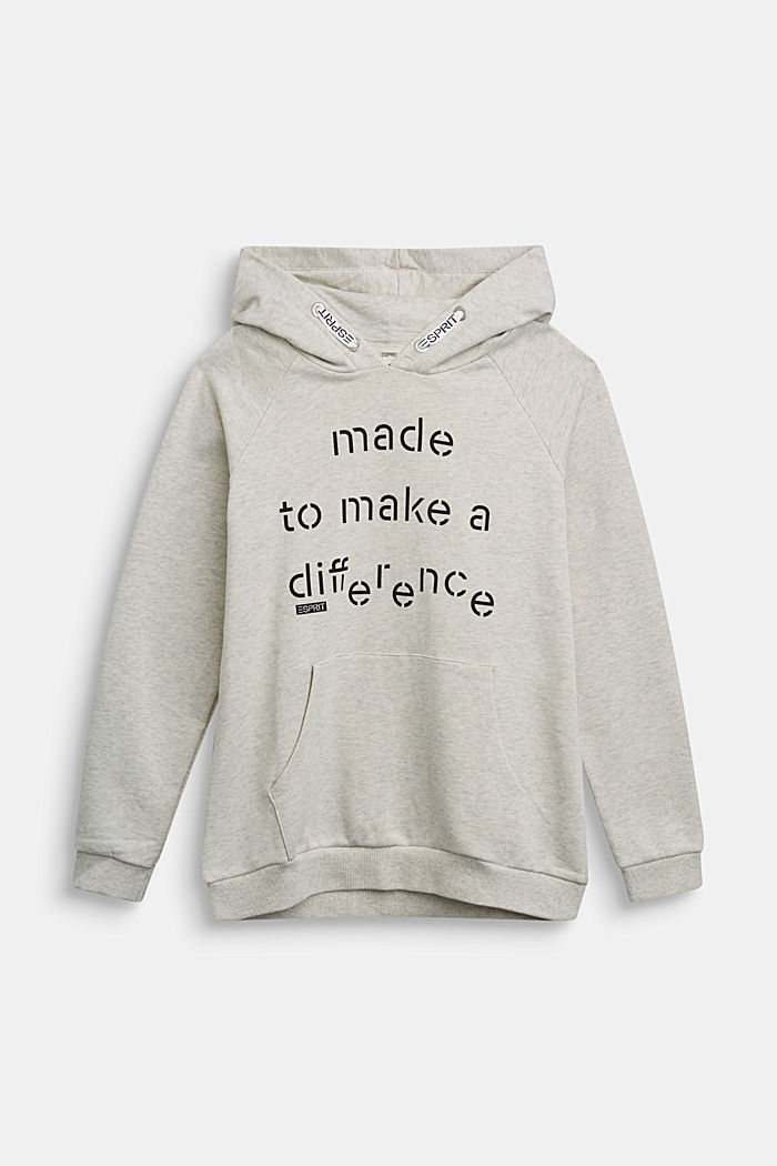 Recycled: Hoodie in 100% cotton, OFF WHITE, detail image number 0
