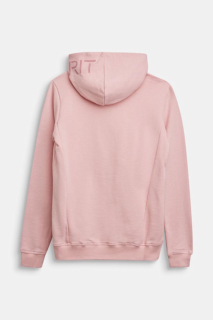 Sweatshirt cardigan in 100% cotton, LIGHT PINK, detail image number 1