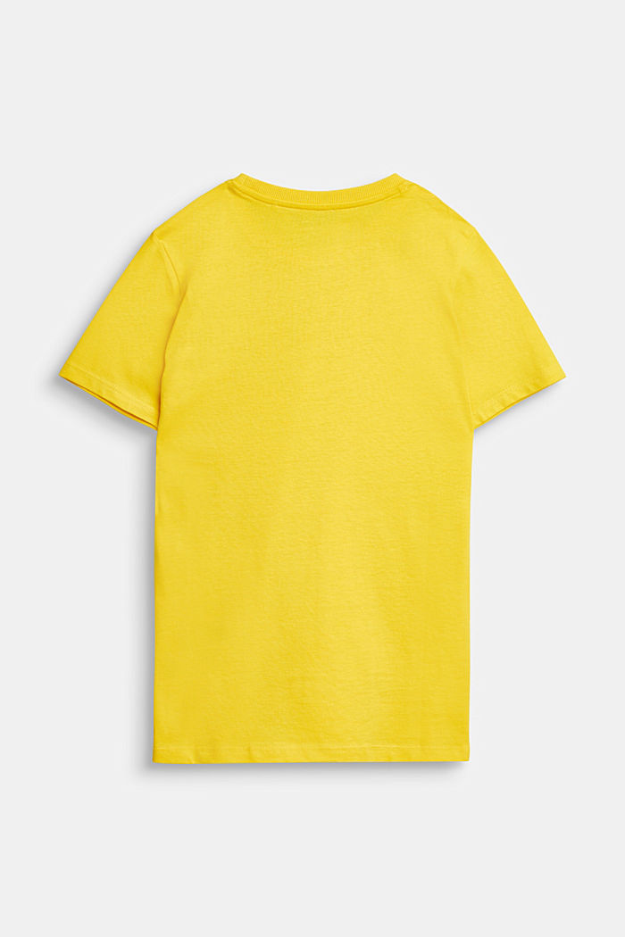 Logo print T-shirt in 100% cotton, YELLOW, detail image number 1