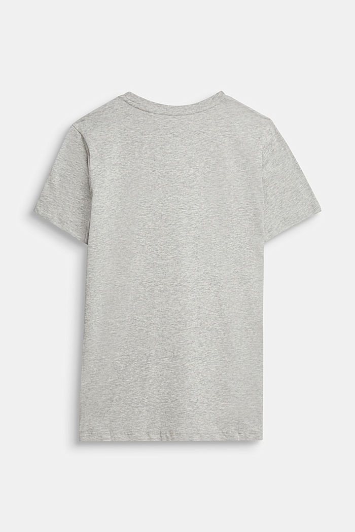 Recycled: print T-shirt made of cotton, PASTEL GREY, detail image number 1
