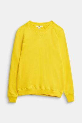 Basic sweatshirt made of 100% cotton, YELLOW, detail