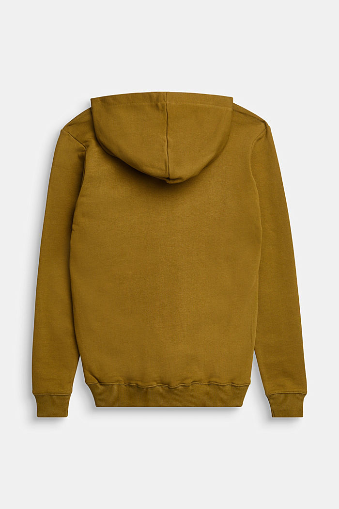 Logo hoodie in 100% cotton, OLIVE, detail image number 1