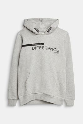 Recycled: Sweatshirt hoodie in 100% cotton, PASTEL GREY 5, detail