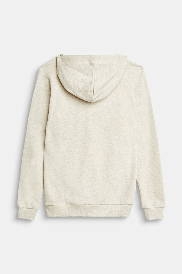 Recycled: Sweatshirt hoodie in 100% cotton, OFF WHITE, detail image number 1