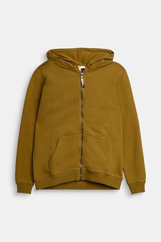 Logo sweatshirt cardigan made of 100% cotton