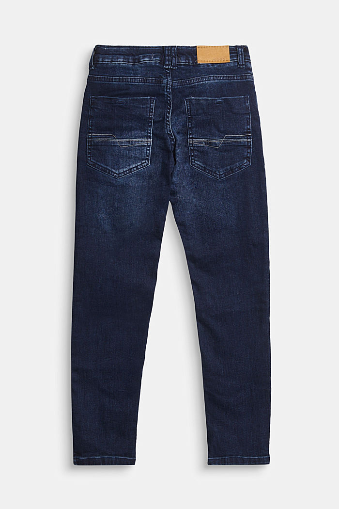 Stretch jeans with recycled cotton, BLUE DARK WASHED, detail image number 1