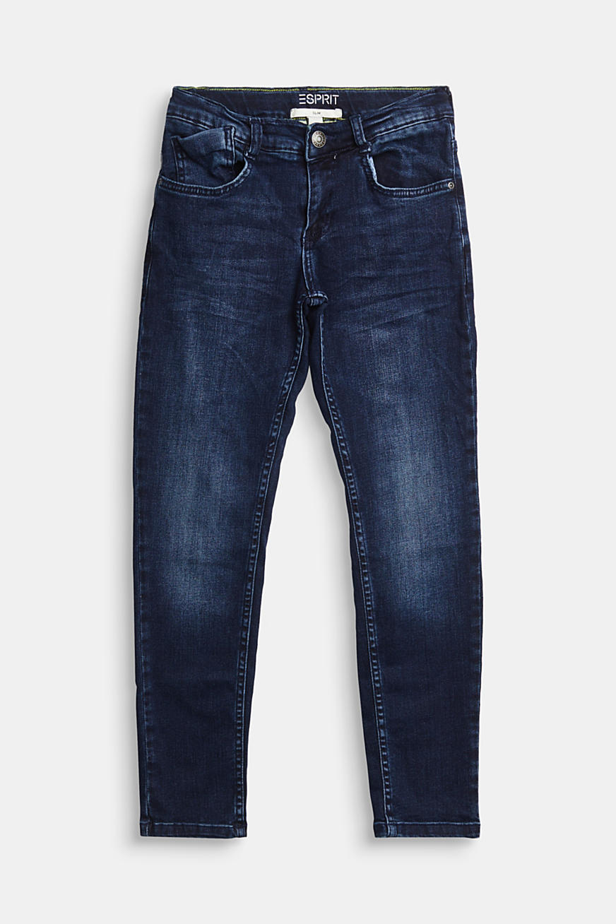 Stretch jeans with recycled cotton