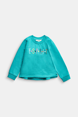 Logo sweatshirt made of 100% organic cotton