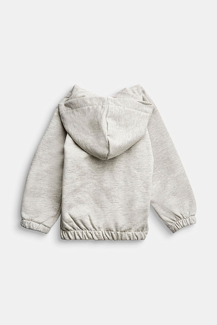 Sweatshirt jacket in organic cotton, MEDIUM GREY, detail image number 1