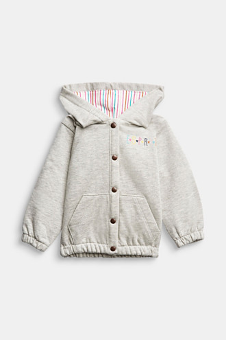 Sweatshirt jacket in organic cotton