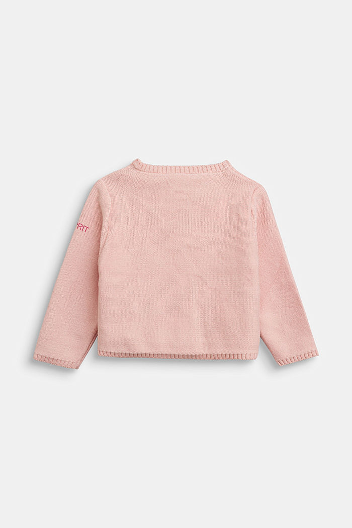 Basic cardigan made of 100% organic cotton, LIGHT PINK, detail image number 1