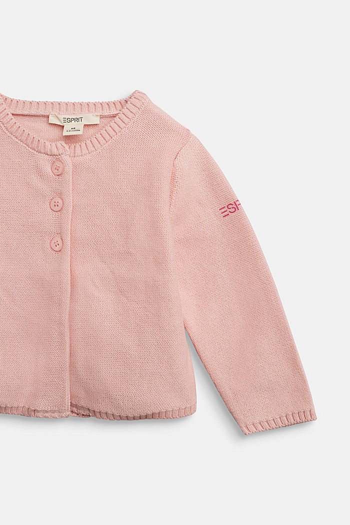 Basic cardigan made of 100% organic cotton, LIGHT PINK, detail image number 2