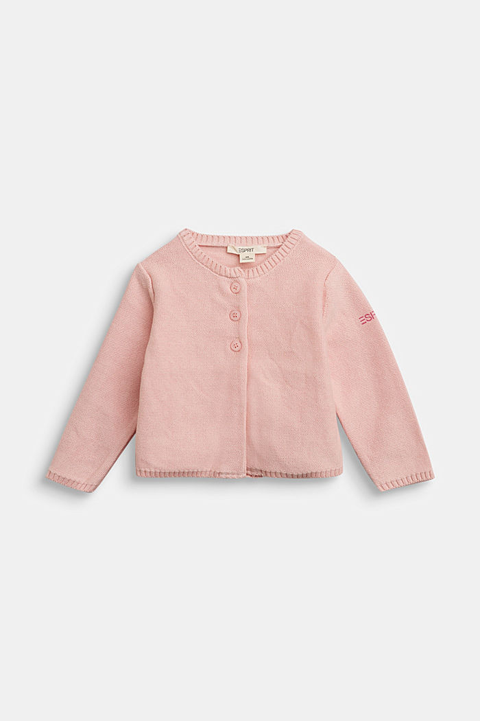 Basic cardigan made of 100% organic cotton, LIGHT PINK, detail image number 0