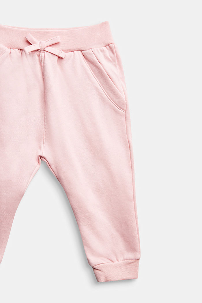 Tracksuit bottoms in 100% organic cotton, LIGHT PINK, detail image number 2
