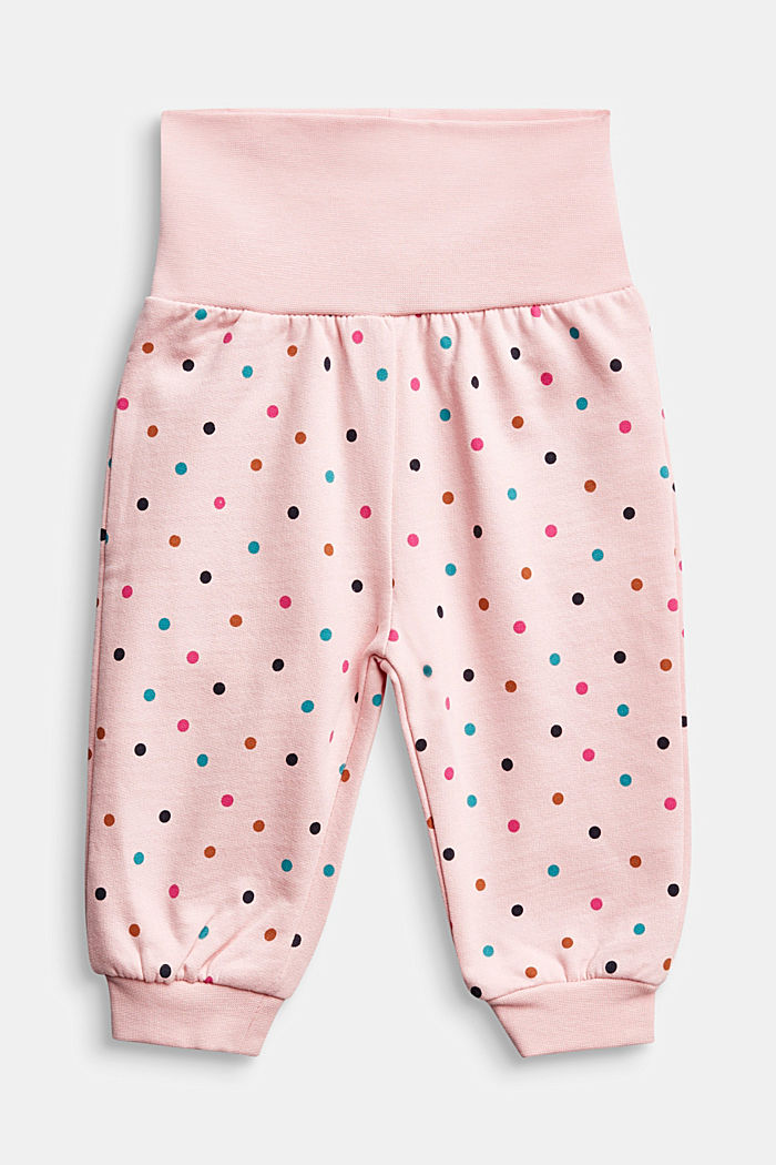 Tracksuit bottoms in 100% organic cotton, LIGHT PINK, overview