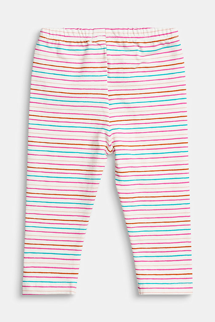 Colourfully striped leggings, organic cotton