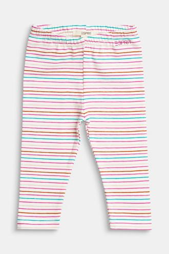 Colourfully striped leggings, organic cotton