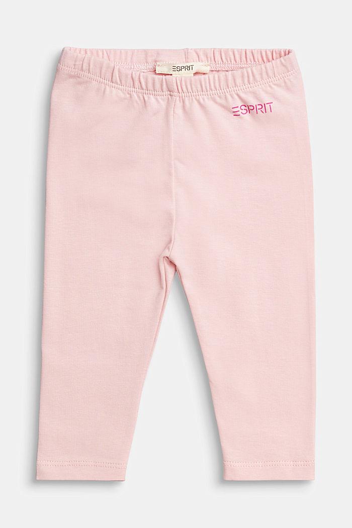 Basic leggings, organic cotton, LIGHT PINK, detail image number 0