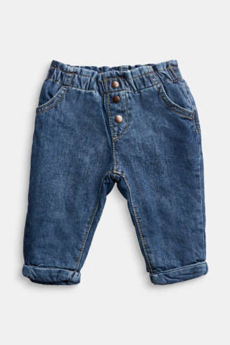 Jeans with jersey lining, organic cotton