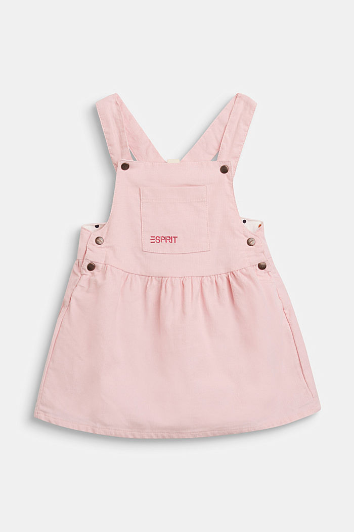 Corduroy pinafore made of organic cotton, LIGHT PINK, detail image number 0
