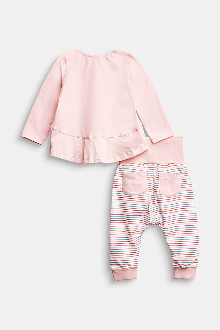 Set: top and trousers, organic cotton, LIGHT PINK, detail image number 1