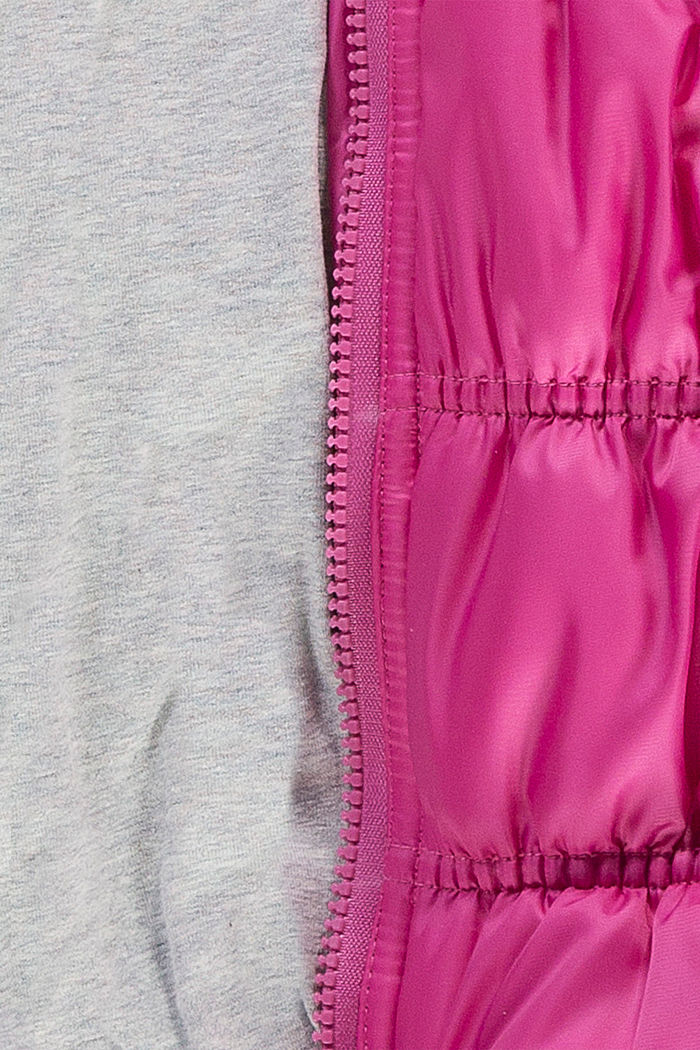 Quilted jacket with jersey lining, PINK, detail image number 2