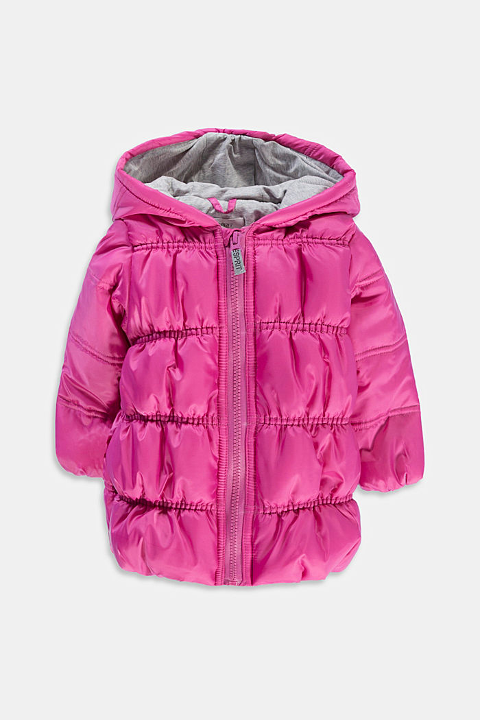 Quilted jacket with jersey lining, PINK, detail image number 0