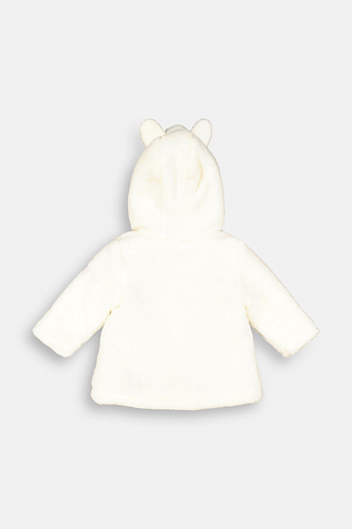 Duffle coat made of teddy plush, OFF WHITE, detail image number 1
