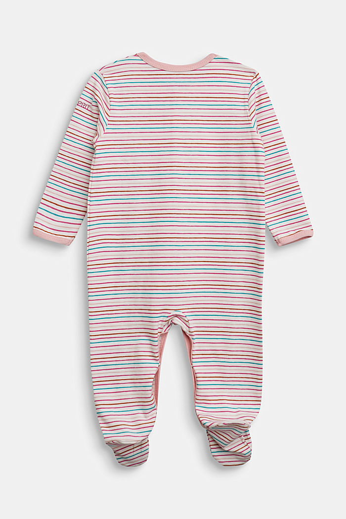 Striped romper suit, organic cotton, OFF WHITE, detail image number 1