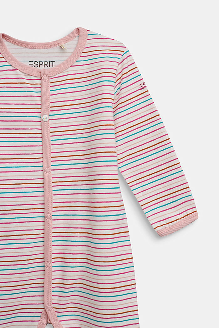 Striped romper suit, organic cotton, OFF WHITE, detail image number 2