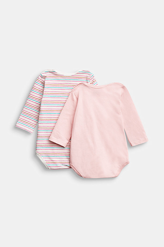 2-pack of bodysuits, organic cotton, LIGHT PINK, detail image number 1