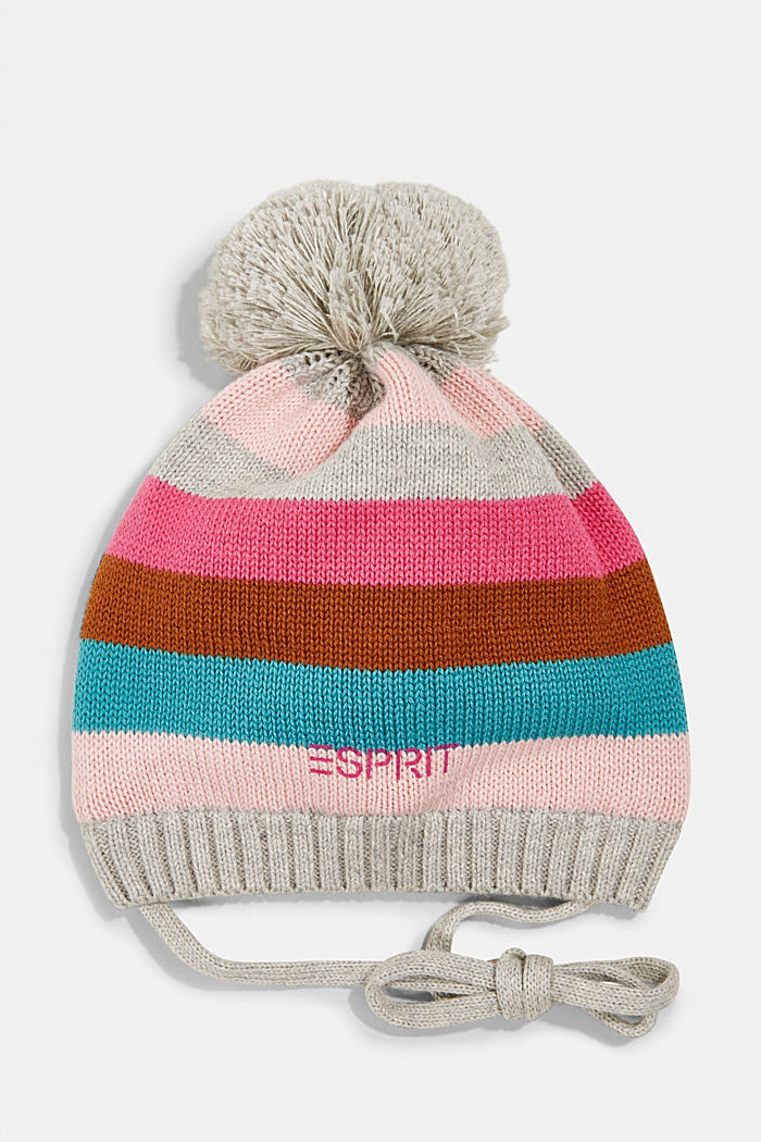 Knitted hat with jersey lining
