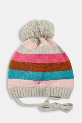 Knitted hat with jersey lining, MEDIUM GREY, detail