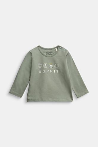Long sleeve print T-shirt, organic cotton