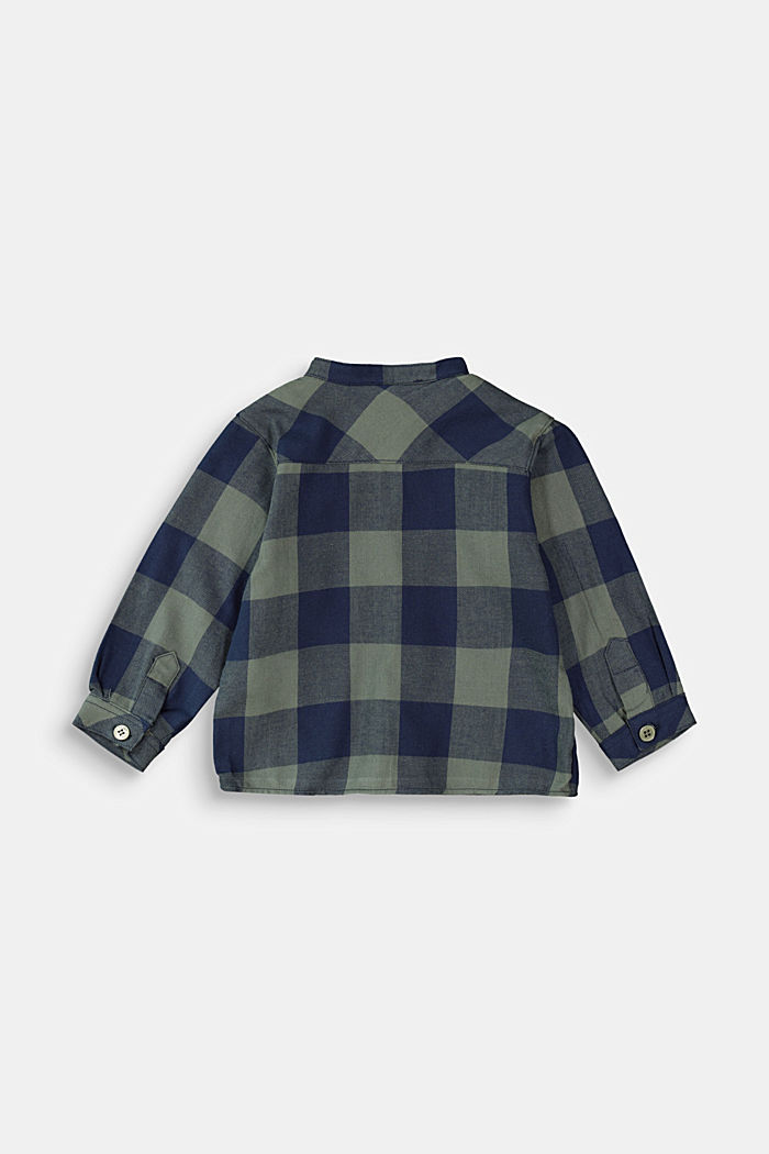 Soft brushed check shirt, organic cotton