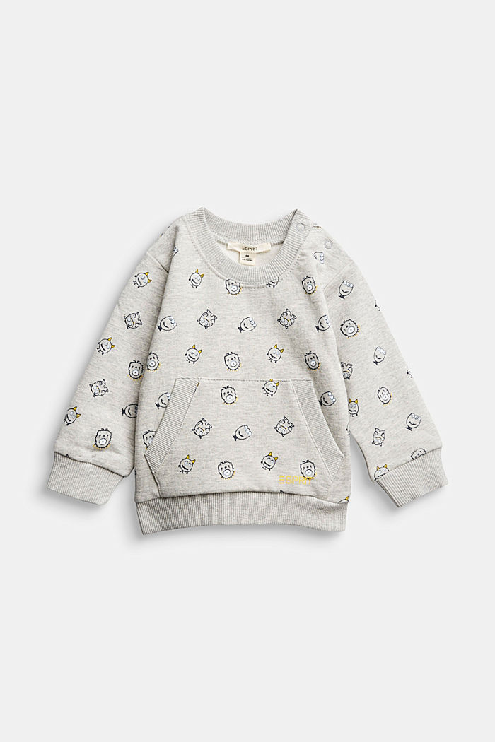Monster print sweatshirt, organic cotton