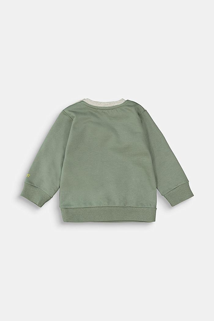 Monster-Sweatshirt aus 100% Bio-Baumwolle, DUSTY GREEN, detail image number 1