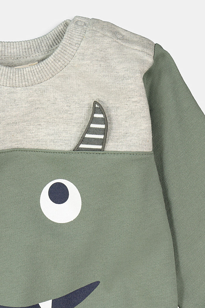Monster-Sweatshirt aus 100% Bio-Baumwolle, DUSTY GREEN, detail image number 2