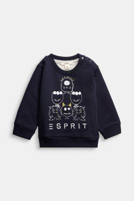 Sweatshirt made of 100% organic cotton, NAVY, detail