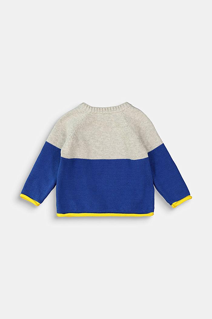 Color Block Pullover, 100% Bio-Baumwolle, MEDIUM GREY, detail image number 1