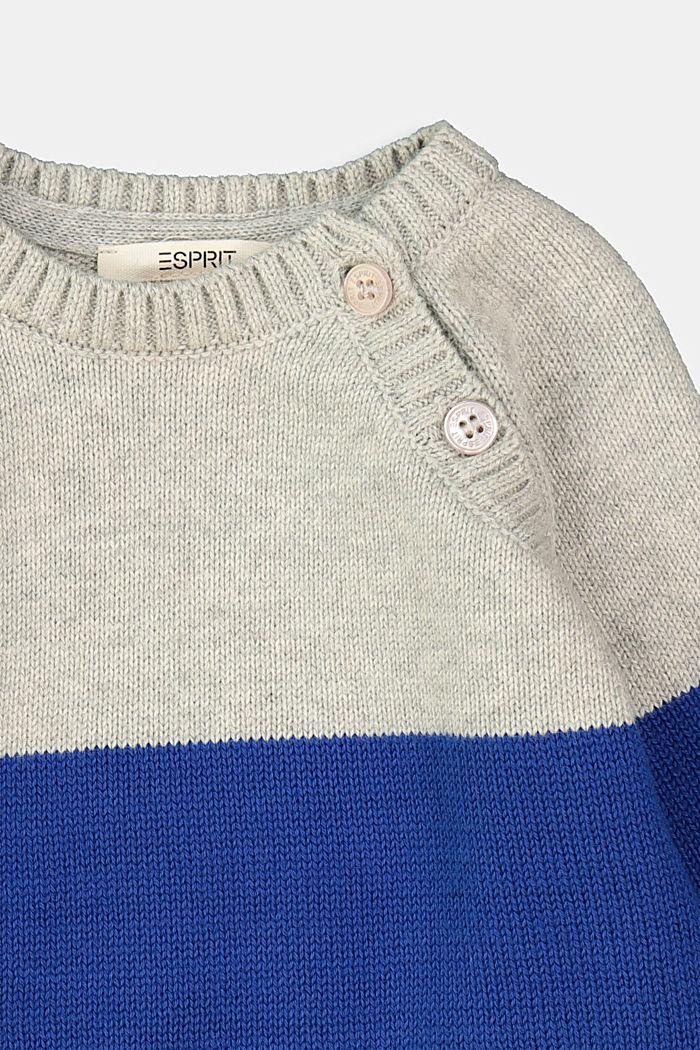 Color Block Pullover, 100% Bio-Baumwolle, MEDIUM GREY, detail image number 2