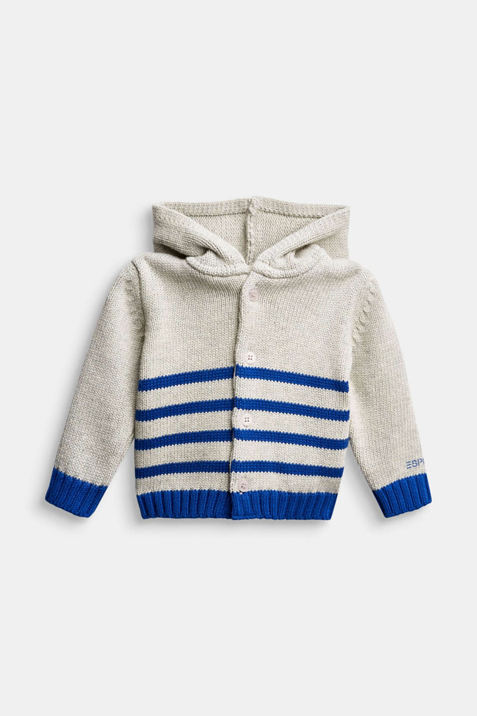Esprit - Knitted cardigan made of 100% organic cotton