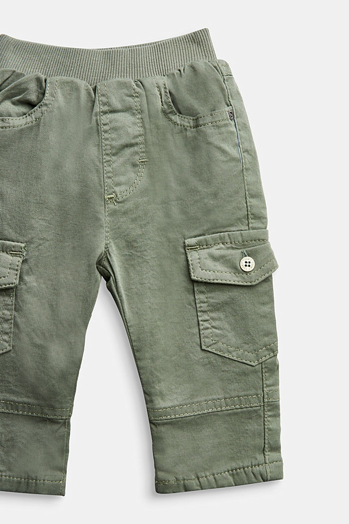 Cargo trousers containing organic cotton, DUSTY GREEN, detail image number 2
