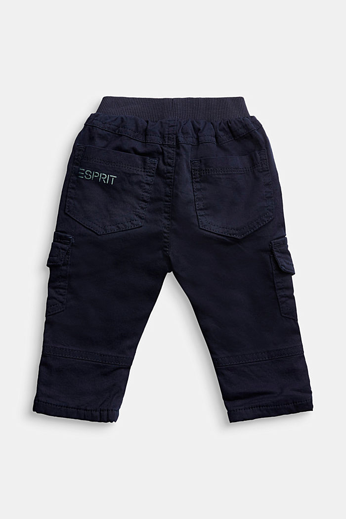 Cargo trousers containing organic cotton, NAVY, detail image number 1