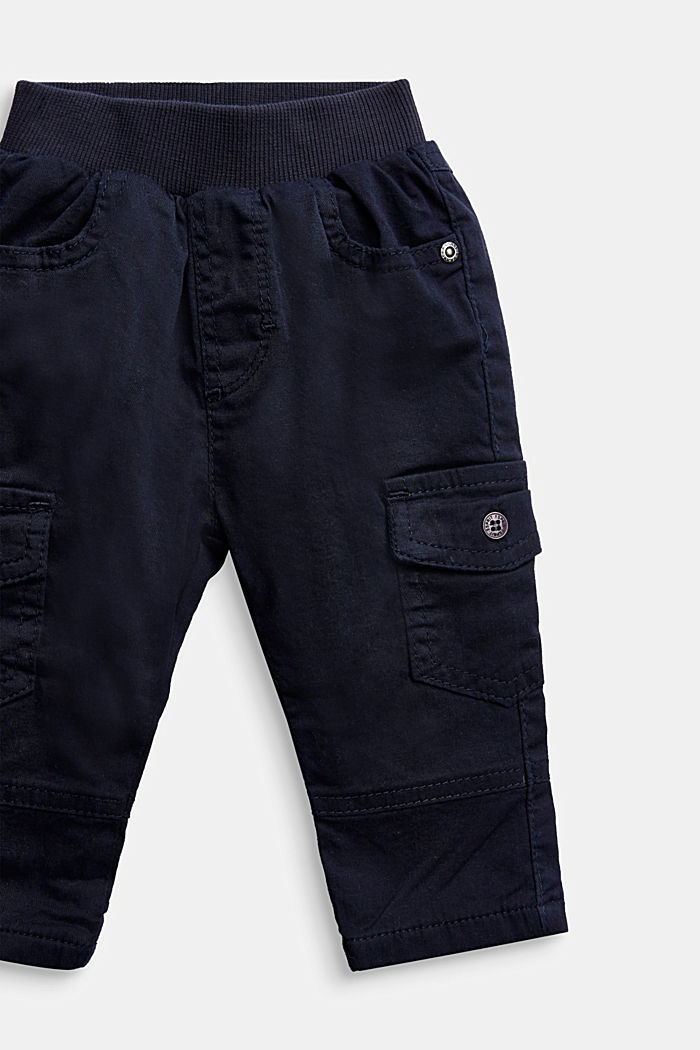 Cargo trousers containing organic cotton, NAVY, detail image number 2