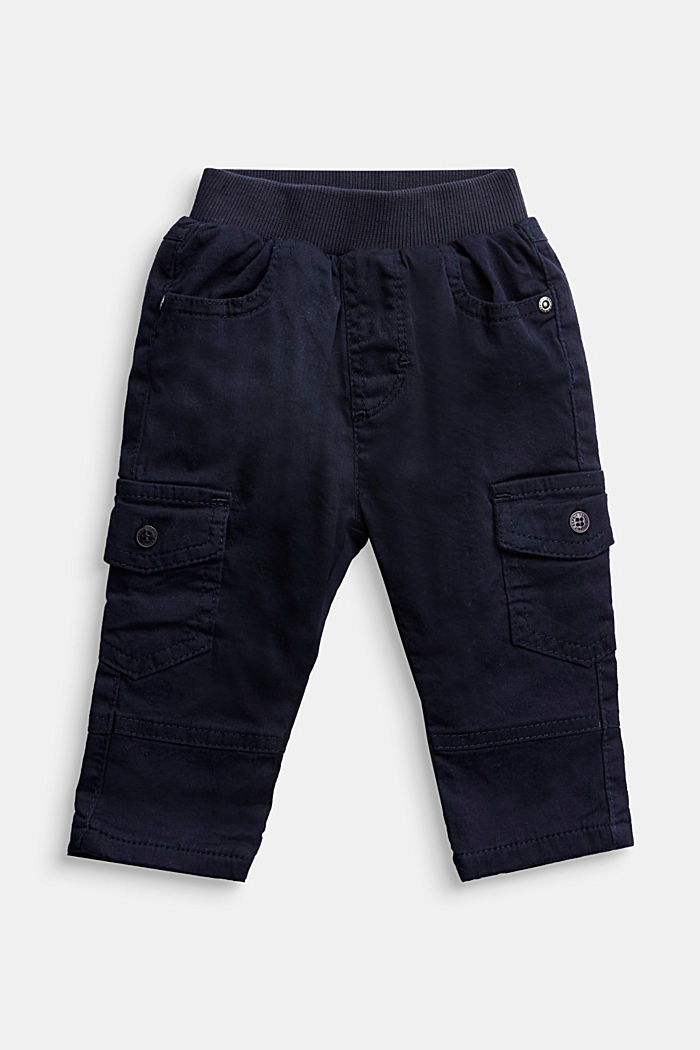 Cargo trousers containing organic cotton, NAVY, detail image number 0