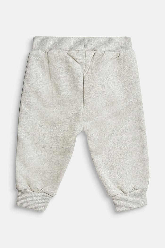 Tracksuit bottoms made of 100% organic cotton, MEDIUM GREY, detail image number 1